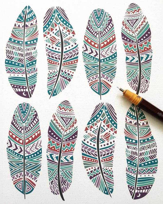 tribal aztec ethnic geometric patterns pom graphic