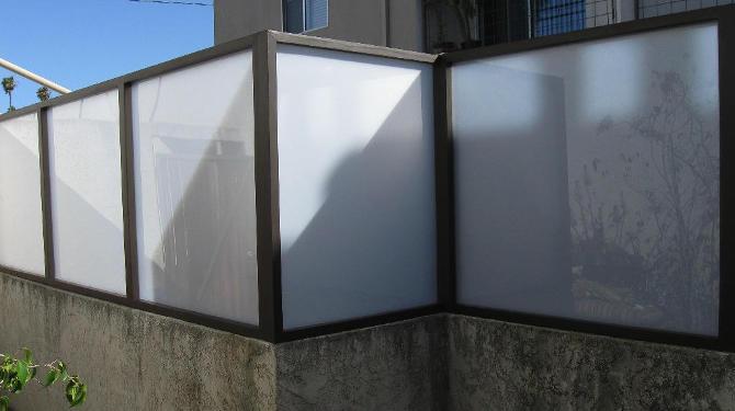 //WALL EXTENSIONS// - Plexiglass Fence, Modern Fence Design